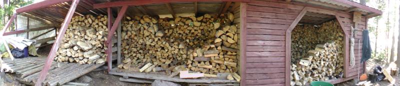 Halkovaja täyttyi mukavasti. Vanhimmat ja siis kuivimmat puut ovat keskellä